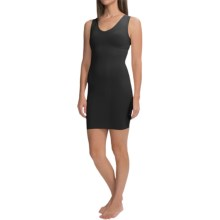 CASS Shapewear V-Neck Dress Slip - Sleeveless (For Women) in Black - Closeouts