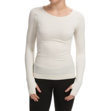 Cass Shapewear Wear Repair Crew Top - Long Sleeve (For Women) in Ivory - Closeouts