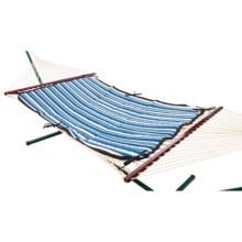Castaway by Pawleys Island Reversible Hammock Pad in Blue/White - Closeouts