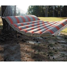Castaway Sunbrella® Pillow-Top Hammock - 2-Person in Passage Poppy Stripe - Closeouts
