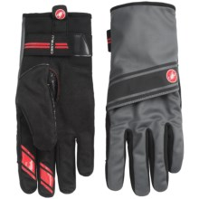 Castelli 4.3.1 Polartec® Bike Gloves (For Men) in Black/Turbulence - Closeouts