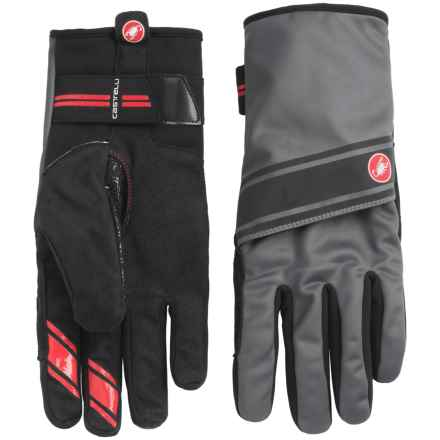 Castelli 4.3.1 Polartec® Bike Gloves (For Men) in Black/Turbulence - Closeouts