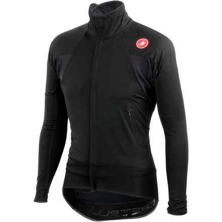 Castelli Alpha Wind Cycling Jersey - Windstopper®, Full Zip, Long Sleeve (For Men) in Black - Closeouts