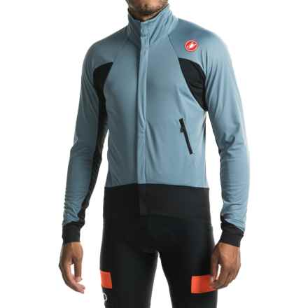 Castelli Alpha Wind Cycling Jersey - Windstopper®, Full Zip, Long Sleeve (For Men) in Mirage/Black - Closeouts