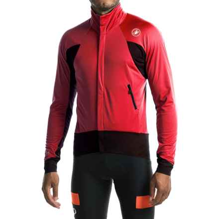 Castelli Alpha Wind Cycling Jersey - Windstopper®, Full Zip, Long Sleeve (For Men) in Red/Black - Closeouts