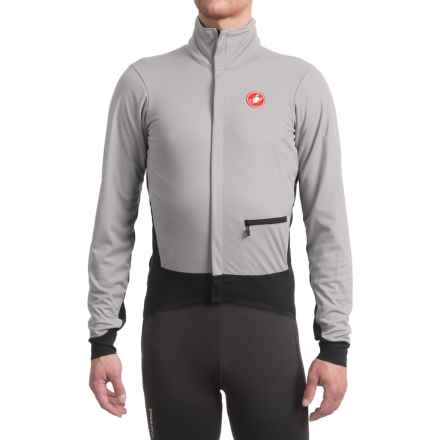 Castelli Alpha Windstopper® Cycling Jacket (For Men) in Luna Grey/Black - Closeouts