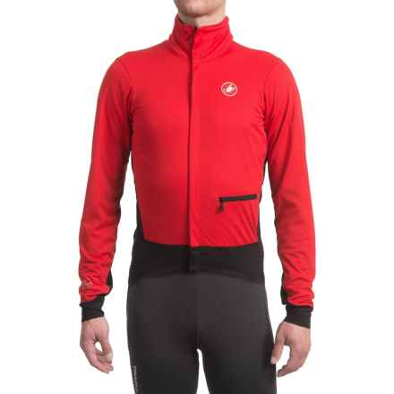 Castelli Alpha Windstopper® Cycling Jacket (For Men) in Red/Black - Closeouts