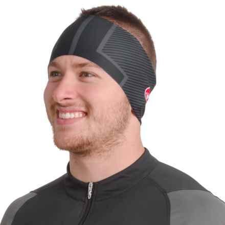 Castelli Arrivo Thermo Bike Headband (For Men and Women) in Black - Closeouts