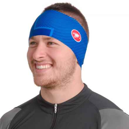Castelli Arrivo Thermo Bike Headband (For Men and Women) in Surf Blue - Closeouts