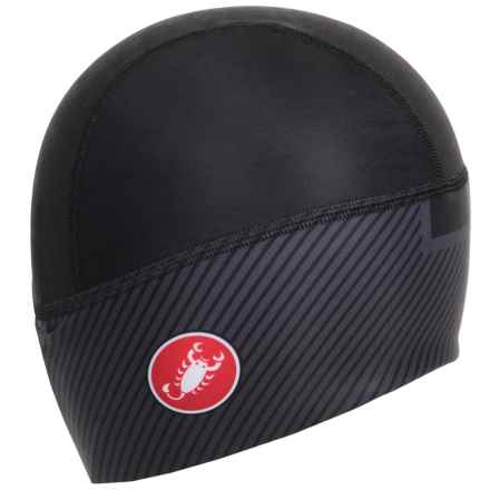 Castelli Arrivo Thermo Skully Cycling Hat (For Men and Women) in Black - Closeouts