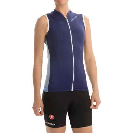 Castelli Bellissima Cycling Jersey - Full Zip, Sleeveless (For Women) in Deep Cobalt - Closeouts