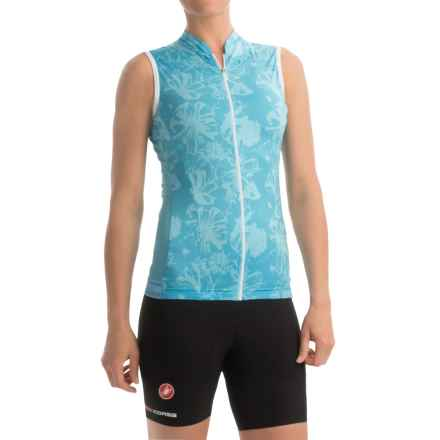 Castelli Bellissima Cycling Jersey - Full Zip, Sleeveless (For Women) in Pastel Blue - Closeouts