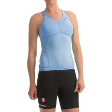 Castelli Bellissima Wonder Racerback Cycling Tank Top - Built-In Bra (For Women) in Pale Sky - Closeouts