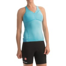 Castelli Bellissima Wonder Racerback Cycling Tank Top - Built-In Bra (For Women) in Pastel Blue - Closeouts