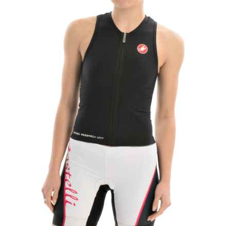 Castelli Body Paint Donna Tri Top - Full Zip, Sleeveless (For Women) in Black - Closeouts