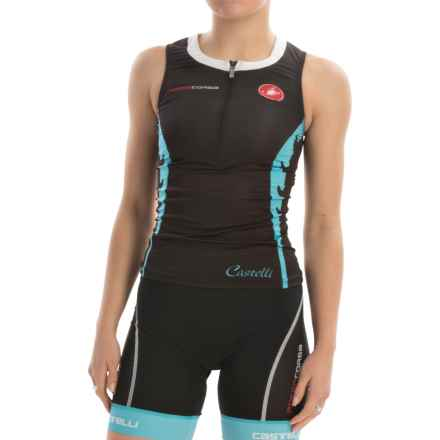 Castelli Body Paint Tri Singlet - Zip Neck (For Women) in Black/White - Closeouts
