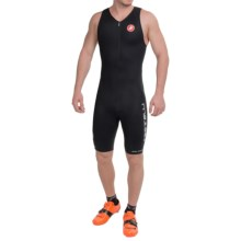 Castelli Body Paint Tri Suit - Zip Neck, Sleeveless (For Men) in Black - Closeouts