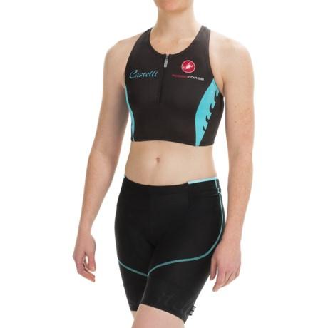 Castelli Body Paint Tri Top Short, Zip Neck (For Women)