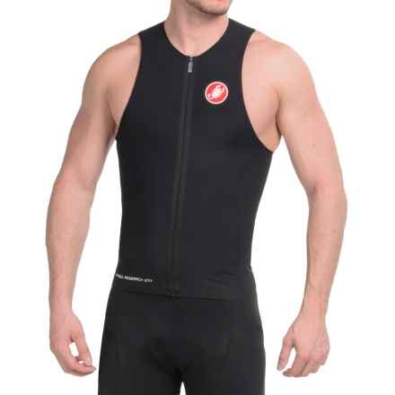 Castelli Body Paint Tri Top - UPF 50+, Full Zip, Sleeveless (For Men) in Black - Closeouts