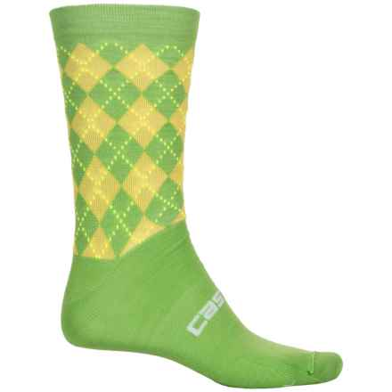 Castelli Cannondale Cycling Socks - Wool Blend, Crew (For Men) in Sprint Green - Closeouts