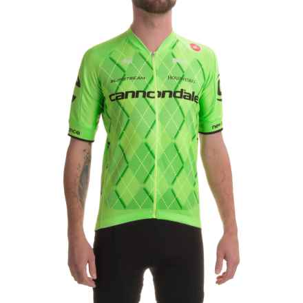Castelli Cannondale Team 2.0 Jersey - Full Zip, Short Sleeve (For Men) in Sprint Green - Closeouts