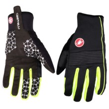 Castelli Chiro 3 Bike Gloves - Windstopper® (For Men) in Black/Yellow Fluo - Closeouts