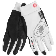 Castelli Chiro Due Windstopper® Cycling Gloves (For Men and Women) in White - Closeouts