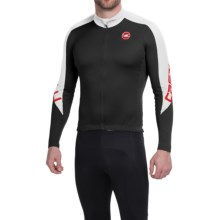 Castelli Classica Thermo Cycling Jersey - Long Sleeve (For Men) in Black/White - Closeouts