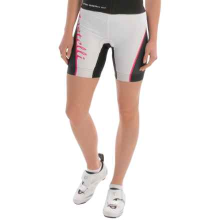Castelli Core Tri Shorts (For Women) in White/Fucsia/Black - Closeouts