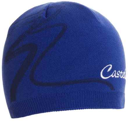 Castelli Cortina Knit Cap (For Men and Women) in Deep Blue - Closeouts