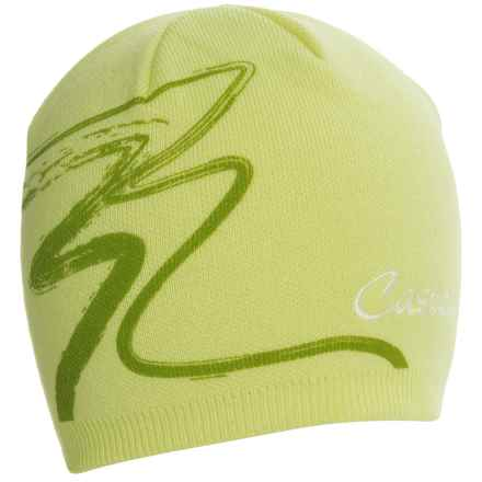 Castelli Cortina Knit Cap (For Men and Women) in Green Fluo - Closeouts