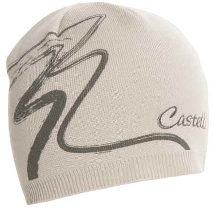 Castelli Cortina Knit Cap (For Men and Women) in Powder Rose - Closeouts