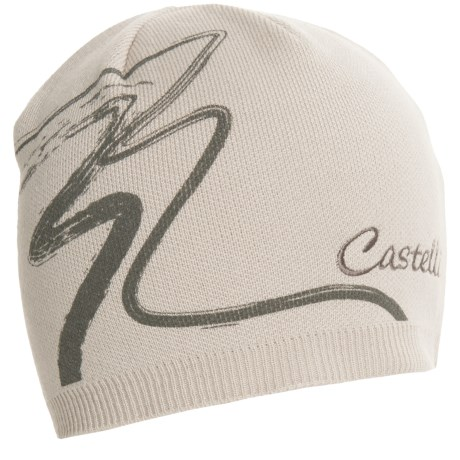 Castelli Cortina Knit Cap (For Men and Women) in Powder Rose