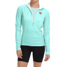 Castelli Cromo Cycling Jersey - Zip Neck, Long Sleeve (For Women) in Pastel Blue/White - Closeouts