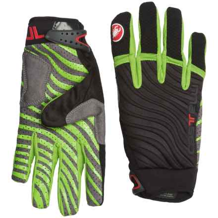 Castelli CW 6.0 Cross Bike Gloves (For Men) in Black/Sprint Green - Closeouts