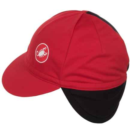Castelli Difesa Cycling Cap - Windstopper® (For Men and Women) in Red - Closeouts