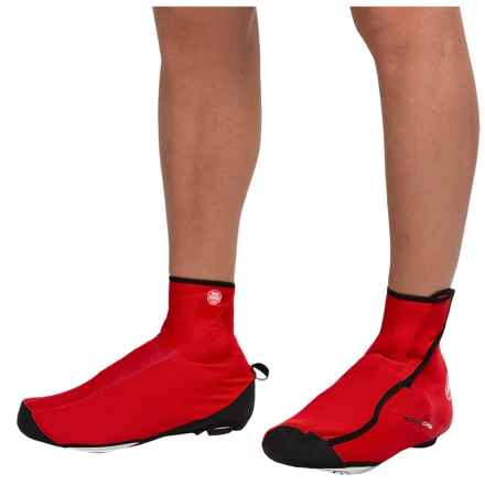 Castelli Difesa Windstopper® Cycling Shoe Covers (For Men) in Red - Closeouts