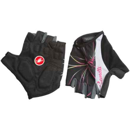 Castelli Dolce Bike Gloves - Fingerless (For Women) in Black - Closeouts