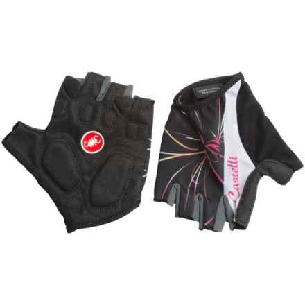 Castelli Dolce Bike Gloves - Fingerless (For Women) in Black - Closeouts