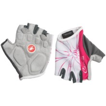 Castelli Dolce Bike Gloves - Fingerless (For Women) in White - Closeouts