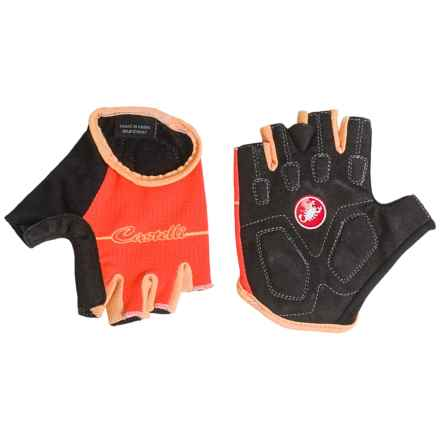 Castelli Dolcissima Bike Gloves - Fingerless (For Women) in Coral/Light Orange - Closeouts