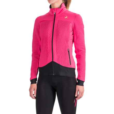 Castelli Elemento 2 7X(Air) Jacket - Waterproof, Insulated (For Women) in Raspberry - Closeouts