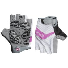 Castelli Elite Gel Cycling Gloves (For Women) in Fucsia/White - Closeouts
