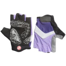 Castelli Elite Gel Cycling Gloves (For Women) in Violet/White/Lilac - Closeouts