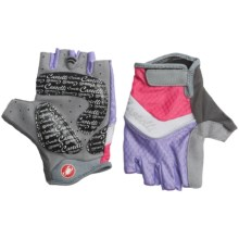 Castelli Elite Gel Cycling Gloves (For Women) in Wisteria/White/Coral/Silver Pipping - Closeouts