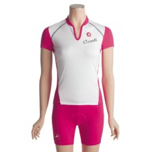 Castelli Elle Cycling Jersey - Short Sleeve (For Women) in White/Fucsia - Closeouts