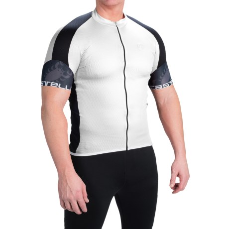 Castelli Entrata Cycling Jersey Full Zip, Short Sleeve (For Men)