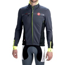 Castelli Espresso 3 Cycling Jacket - Windstopper®, Full Zip (For Men) in Anthracite/Yellow Fluo - Closeouts
