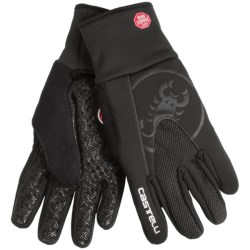 Castelli Estremo Cycling Gloves - Windstopper® (For Men and Women) in Black