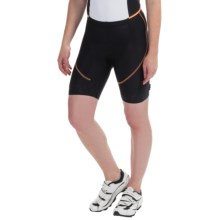 Castelli Evoluzione Bike Shorts (For Women) in Black/Light Orange - Closeouts